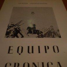 Arte: EQUIPO CRÓNICA. ANÁLISIS CUANTITATIVOS. GALERÍA VAL I 30. VALENCIA. 1967. Lote 99954847