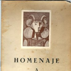 Arte: JOQ50- CATALOGO HOMENAJE A PICASSO, EXPOSICION GALERIA NINIVE EN MADRID, 26 DE ABRIL DE 1967, . Lote 100397715