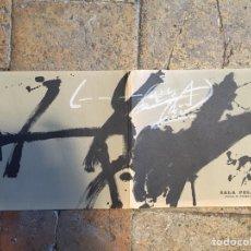 Arte: CATALOGO EXPOSICION TAPIES SALA PELAIRES. Lote 101397148