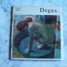 Arte: DEGAS. ENGLISH EDITION. FERNAND HAZAN ÉDITEUR, FRANCE.. Lote 101739375
