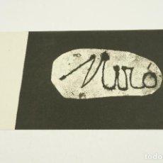 Arte: MIRÓ, LITOGRAFÍAS ORIGINALES, SALA GASPAR, 1957, BARCELONA. 26X15,5CM. Lote 103919475