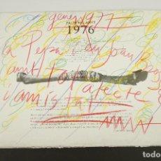 Arte: FREDERIC AMAT, 1976, GALERIA JUANA MORDO, DEDICADO A JOAN BROSSA, MADRID.. Lote 105237555