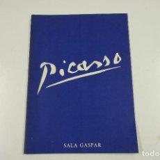 Arte: PICASSO, SALA GASPAR, 1957, BARCELONA. 21,5X30CM. Lote 106186847