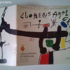 Arte: CATALG ORIGINAL- HOMENAJE EXPOSICION CERAMICA LLORENS ARTIGAS-NOV-1978 BCN/ TAPAS ILUSTR /JOAN MIRO.. Lote 106525371