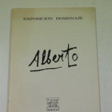 Arte: ALBERTO SÁNCHEZ, EXPOSICIÓN HOMENAJE, GALERIA LAIETANA, 1976, BARCELONA. 21X30,5CM. Lote 106915095
