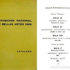 Arte: EXPOSICIÓN NACIONAL DE BELLAS ARTES 1966. MADRID, PALACIOS DEL RETIRO, MAYO Y JUNIO.. Lote 107189635