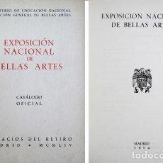 Arte: EXPOSICIÓN NACIONAL DE BELLAS ARTES. 1954. CATÁLOGO OFICIAL. . Lote 107190035
