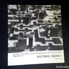 Arte: ANTONIO BONET - ARQUITECTURA - 1960 - MUSEO DE ARTE CONTEMPORANEO DE BARCELONA . Lote 107489971