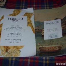 Arte: FABULOSO LOTE DE 2 CATÁLAGOS DE SUBASTAS BALCLIS. 2013 - 2014. ARTE CHINO, JOYAS,RELOJES,PINTURA.... Lote 107640167
