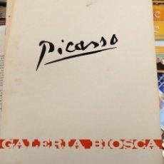 Arte: PICASSO CATALOGO EXPOSICION EN GALERIA BIOSCA EN 1967 ,8 PAGINAS, EN ESPAÑOL E INGLES. Lote 107714611