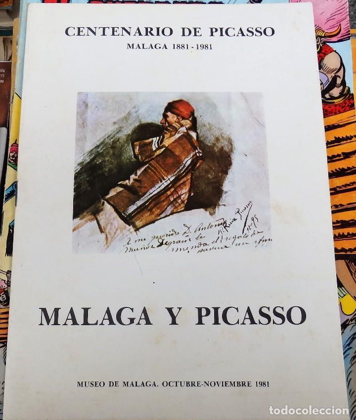 MALAGA, 1981, CATALOGO EXPOSICION CENTENARIO DE PICASSO, 12 PAGINAS (Arte - Catálogos)