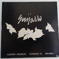 Arte: GUIJARRO. GALERIA KREISLER MADRID 1971. W. Lote 108689047