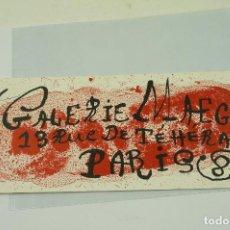 Arte: MIRÓ, GALERIE MAEGHT, 1963, PARIS. 23X9,8CM. Lote 108864607