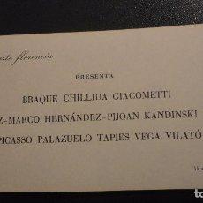 Arte: DIPTICO.MAESTROS GRABADORES.GALERIA FLORENCIA.SEVILLA.1968.PICASSO.MIRO.TAPIES.CHILLIDA.GIACOMETTI. Lote 109101911