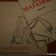 Arte: DIN MATAMORO. GALERIA OLIVA MARA. 1987. Lote 109183391
