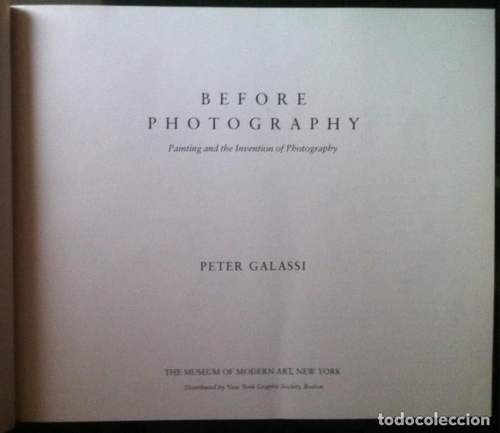 Arte: Peter Galassi. Before Photography: Painting and the Invention of Photography. 1981 - Foto 2 - 109204523