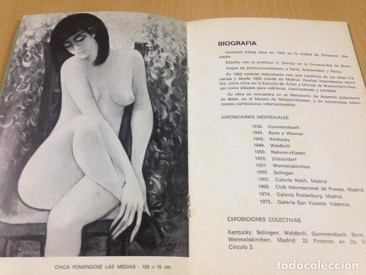 Arte: CATALOGO HERMANN KONIG GALERIA SAN VICENTE VALENCIA 1975 - Foto 3 - 109482831