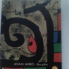 Arte: CATALOGO ORIGINAL JOAN MIRO- CAM CULTURAL-COLECCION CAJA DEL MEDITERRANEO. Lote 109909747