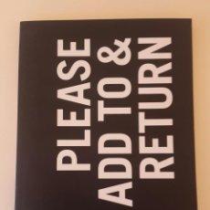 Arte: RAY JOHNSON - PLEASE ADD TO & RETURN - MACBA . Lote 110494731