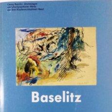 Arte: GEORG BASELITZ, ZEICHNUNGEN UND DRUCKGRAPHISCHE WERKE, KUNSTMUSEUM BASEL, 1991. Lote 111805619