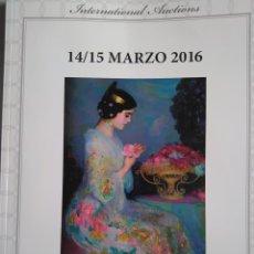 Arte: CATÁLOGO SUBASTAS LAMAS BOLAÑO MARZO 2016. Lote 111910311
