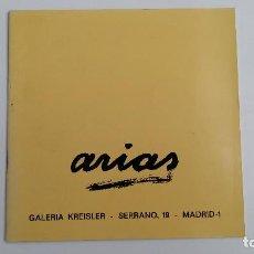 Arte: ARIAS. GALERIA KREISLER 1970. W. Lote 113757259