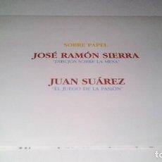 Arte: SOBRE PAPEL-JOSE RAMON SIERRA-JUAN SUAREZ-GALERIA JUANA DE AIZPURU-SEVILLA-1995-DIPTICO. Lote 114479167