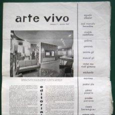 Arte: GRUPO PARPALLÓ - LOS CUATRO NÚMEROS DE LA PRIMERA ÉPOCA DE ARTE VIVO. Lote 116130595