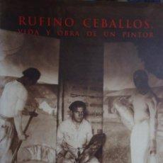 Arte: RUFINO CEBALLOS . VIDA Y OBRA DE UN PINTOR 146 PÁGINAS. Lote 116786923