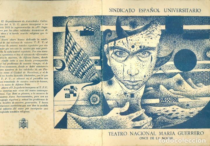 Arte: TÀPIES - 1953 - DIPTICO - TEATRO - Foto 3 - 117892159