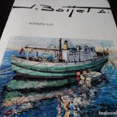 Arte: ACUARELAS DE JORDI BAIJET LISTA DE EXPOSICIONS INDIVIDUALS I PREMIS ESCRITA LA ULTIMA PAG 1998. Lote 117973163