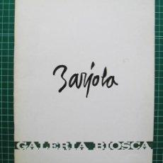 Arte: JUAN BARJOLA – TEXTO DE SANTIAGO AMÓN - GALERÍA BIOSCA, MADRID, 1970. Lote 118855551