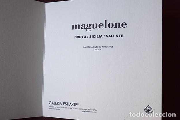Arte: Díptico Maguelone – Broto / Sicilia / Valente – Galería Estiarte, Madrid, 2006 – 16 x 16 cm - Foto 2 - 119050031