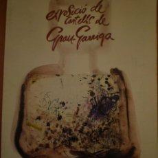 Arte: JOSEP GRAU-GARRIGA. CARTELES. CASA CULTURA DE SANT CUGAT DEL VALLÈS. 1989. Lote 119506011