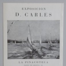 Arte: DOMÉNECH CARLES // INVITACIÓN CATÁLOGO EXPOSICIÓN // 1942 // LA PINACOTECA // BARCELONA. Lote 119691251