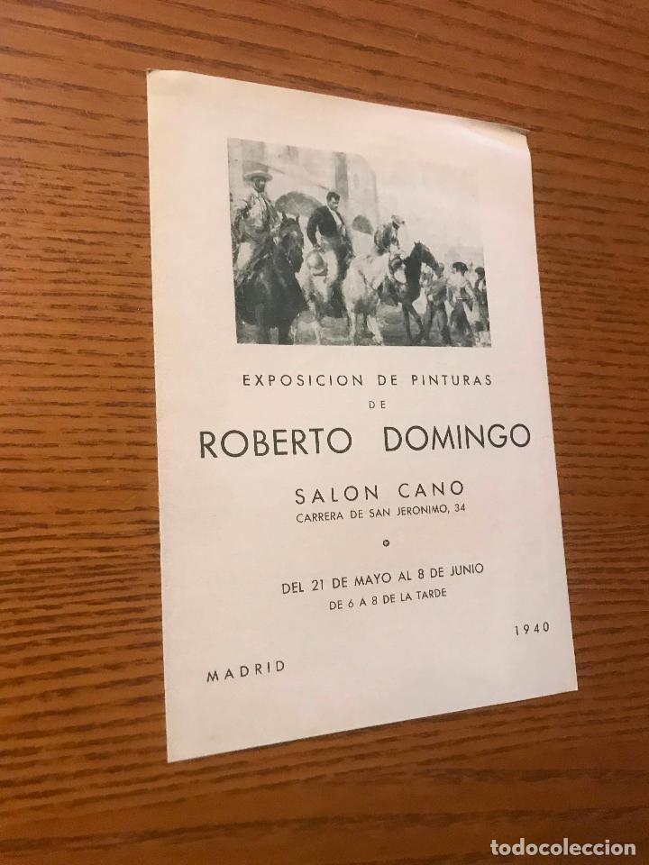 EXPOSICION DE PINTURAS / ROBERTO DOMINGO / SALON CANO / 1940 (Arte - Catálogos)