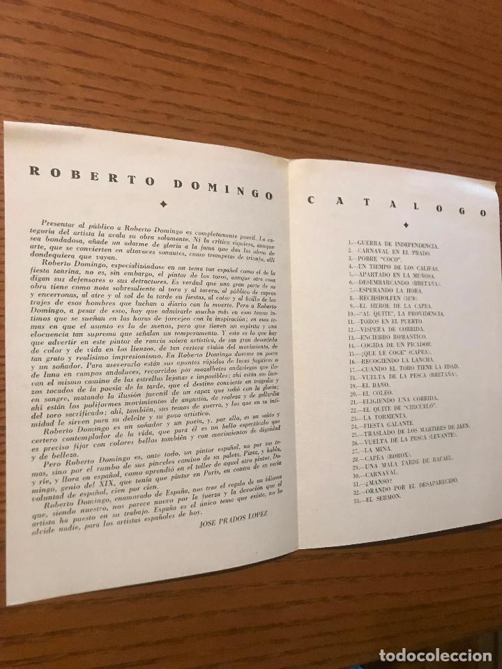 Arte: EXPOSICION DE PINTURAS / ROBERTO DOMINGO / SALON CANO / 1940 - Foto 2 - 120892411