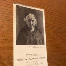 Arte: EXPOSICION RICARDO NAVARRO POVES / SALON CIRCULO BELLAS ARTES / 1940. Lote 121002887