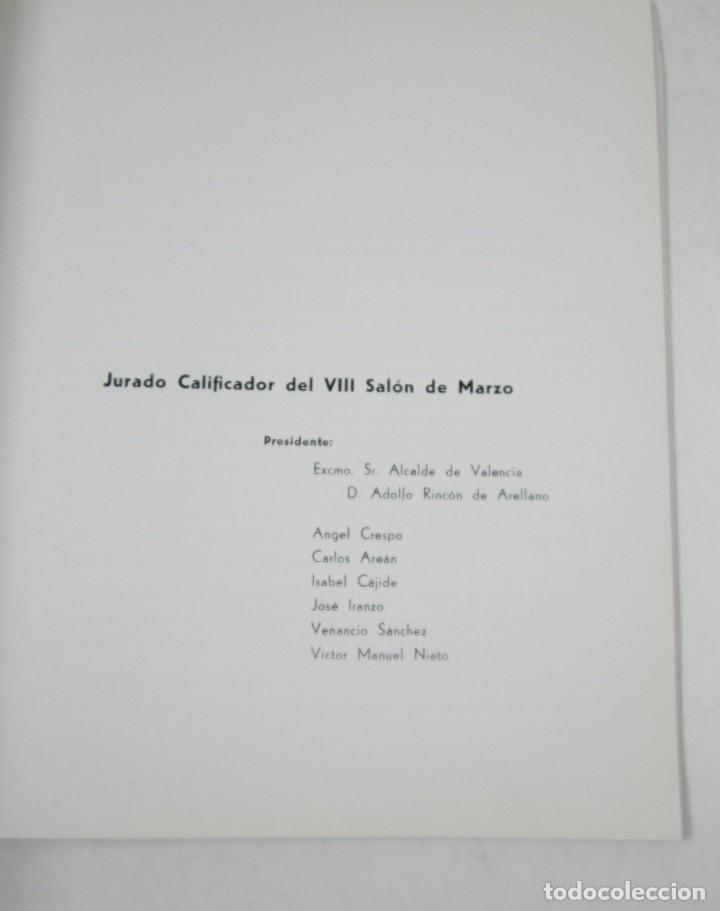 Arte: Catálogo VIII Salón de Marzo, pintura y escultura, 1967, arte actual, Valencia. 20x19,5cm - Foto 3 - 121019291