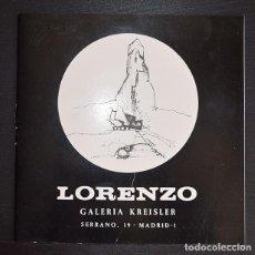 Arte: ANTONIO LORENZO - MÁQUINAS PARA LA IMAGINACIÓN - CATÁLOGO GALERÍA KREISLER DICIEMBRE 1969. Lote 121284951