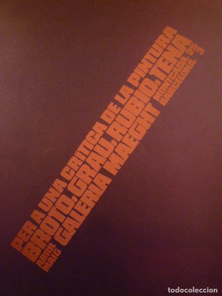 BROTO. GRAU. RUBIO. TENA. GALERIA MAEGHT. 1976 (Arte - Catálogos)