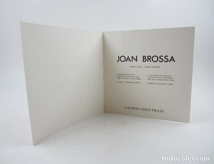 Arte: Joan Brossa, poesia visual i poemes objecte, 1982, Galeria Joan Prats, Barcelona. 20x20cm - Foto 2 - 121329531