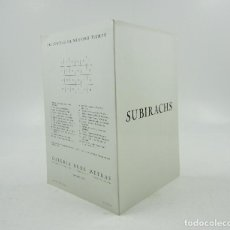 Arte: SUBIRACHS, GALERIA RENÉ METRAS, 1973, BARCELONA. 15,5X23CM. Lote 121332535