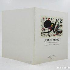 Arte: JOAN MIRÓ, 15 LITOGRAFÍAS ORIGINALES, HOMENATGE A JOAN PRATS, SALA GASPAR, 1971, BARCELONA. 18X23CM. Lote 121341923