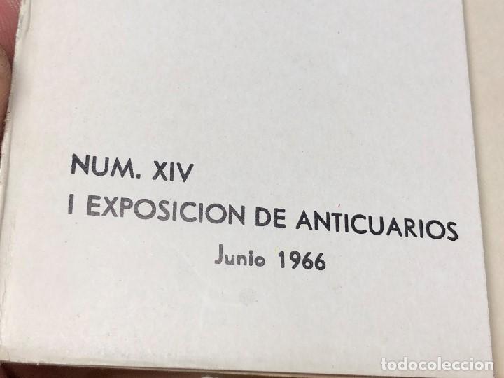 Arte: I exposicion de anticuarios ministerio educacion nacional junio 1966 catalogo cason buen retiro 20cm - Foto 2 - 122547363