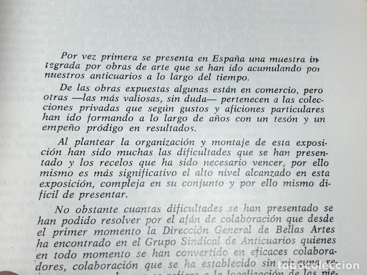 Arte: I exposicion de anticuarios ministerio educacion nacional junio 1966 catalogo cason buen retiro 20cm - Foto 5 - 122547363
