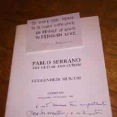 Arte: PABLO SERRANO THE GUITAR AND CUBISM GUGGENHEIM MUSEUM / 1985 / DEDICADO Y FIRMADO. Lote 122563031