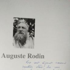 Arte: CATALOGO DE ARTE RODIN AUGUSTE FIRMADO DEDICADO VER FOTO - EXPOSICION SEVILLA VALENCA BILBAO 588 G. Lote 123527195