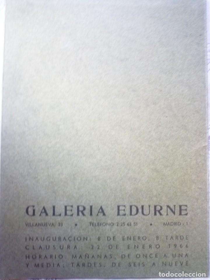 Arte: JOSÉ HERNÁNDEZ. GALERIA EDURNE. 1966 - Foto 2 - 124485011