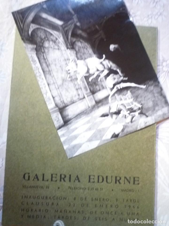 Arte: JOSÉ HERNÁNDEZ. GALERIA EDURNE. 1966 - Foto 3 - 124485011